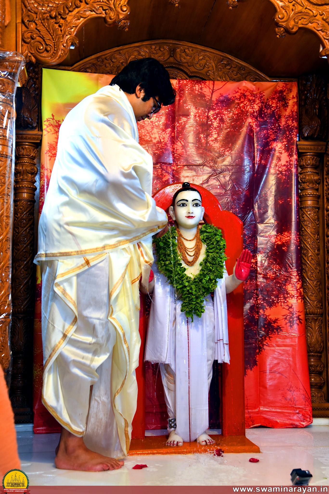 Abhishekh Bal Swarup Shree Ghanshyam Maharaj - Kalupur