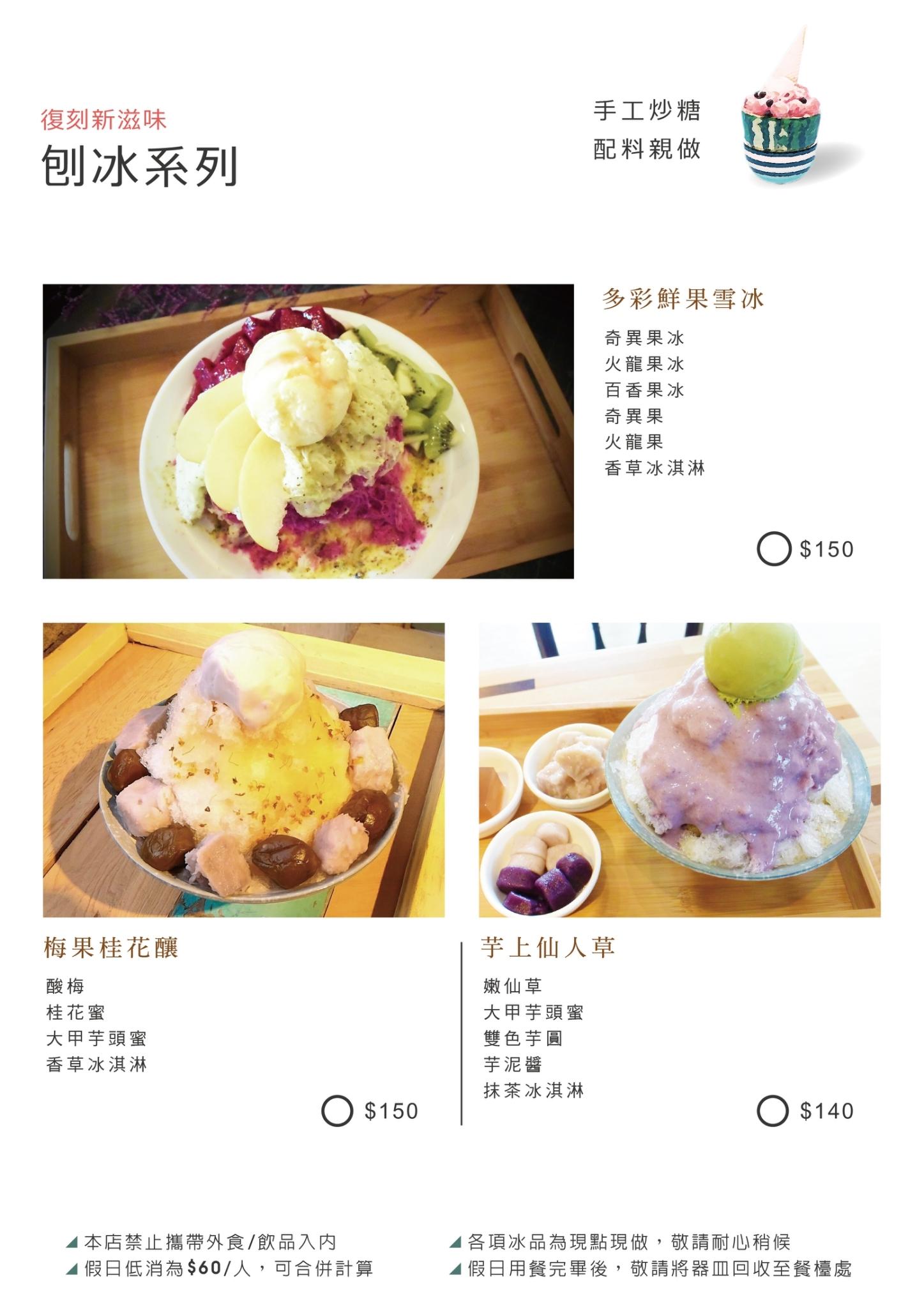 新南五五製冰所 菜單 台中大里冰店07