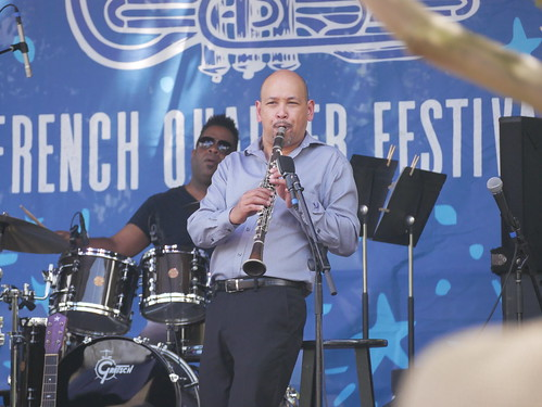 Evan Christopher on Day 1 of French Quarter Fest - 4.11.19. Photo by Louis Crispino.