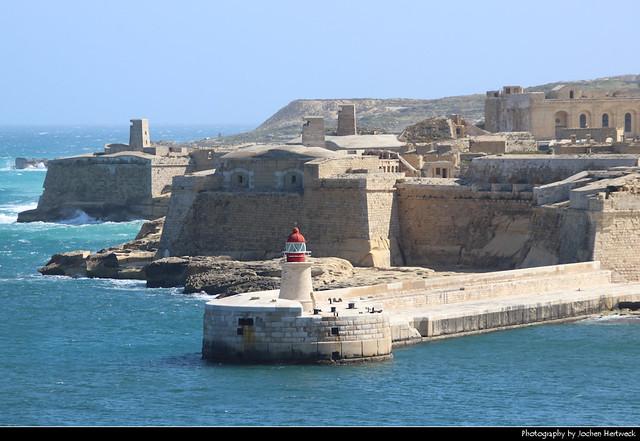 Fort Ricasoli seen from St. Lazarus Bastion, Valletta, Malta