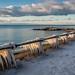 Frozen sea spray from a Lake Ontario storm - R.C. Harris Filtration Plant, Toronto