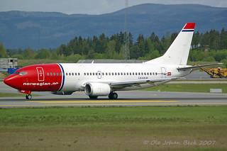Norwegian B737-3K9 LN-KKW at ENGM/OSL 22-05-2007 | by Ole Johan Beck