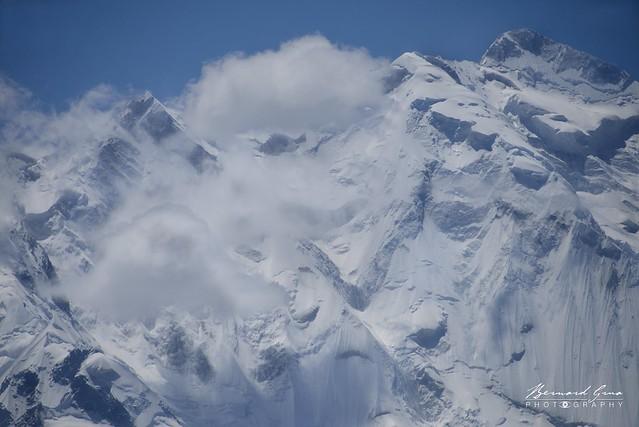 Rakaposhi, le mur de glace vu d'Aliabad © Bernard Grua