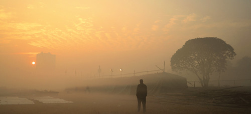 kolkata winter maidan mist misty morning sunrise city cityscape landscape artistic silhouette people horse riding equasy india romantic beautifulcity calcutta শীতেরসকাল brigadeparadeground