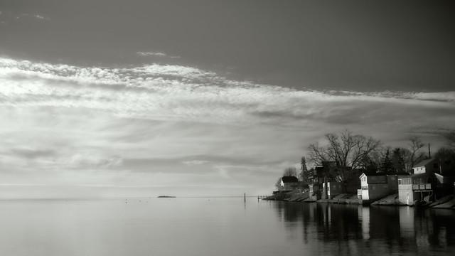 Indian Cove Houses on LI Sound