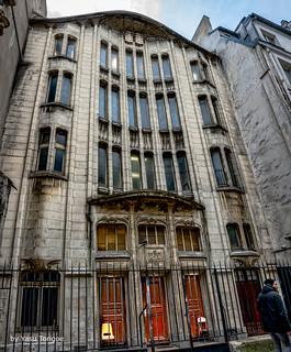 Street View of Agoudas Hakehilos Synagogue, Paris, France -23a
