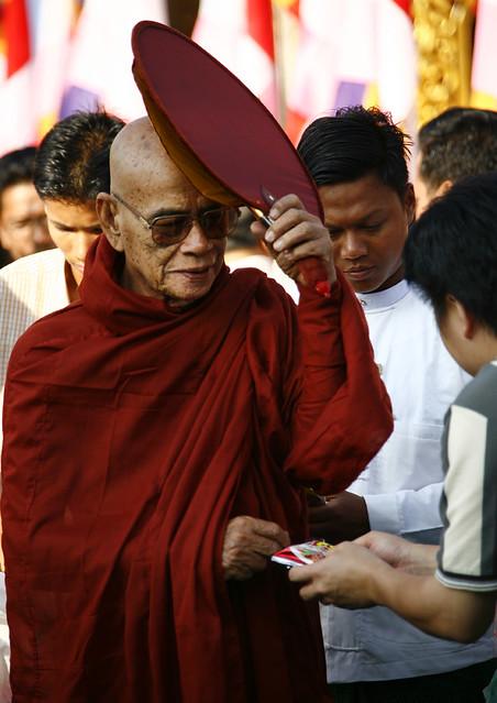 Monks Offers Rangoon, Myanmar