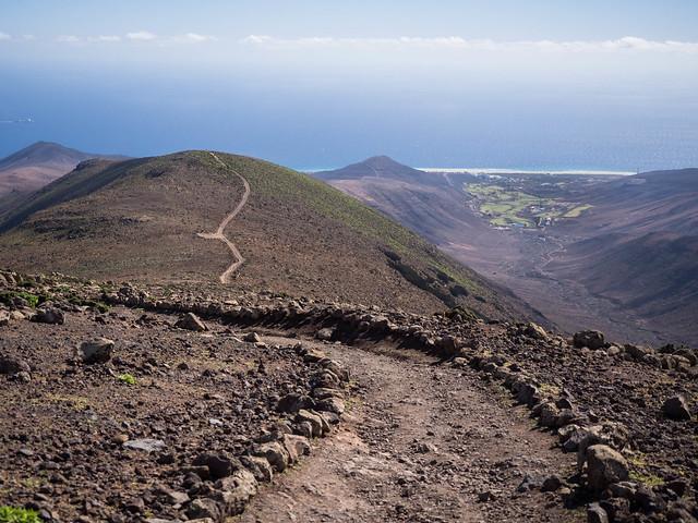 Wanderung zum Pico de Zarza - 7 -  und nun return - zoom it!