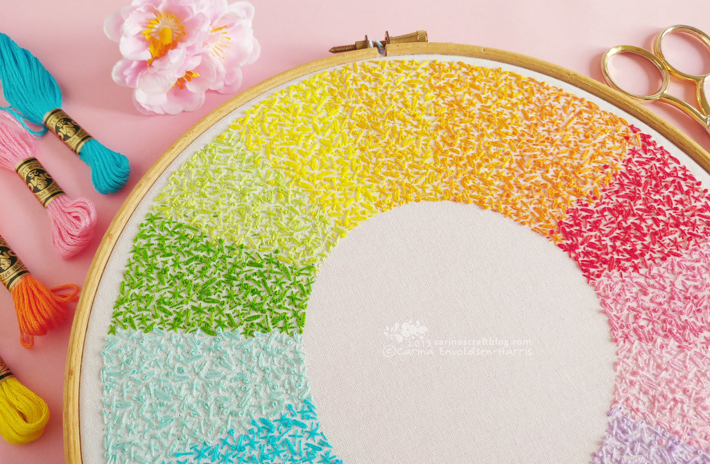 Wheel of Colour embroidery pattern