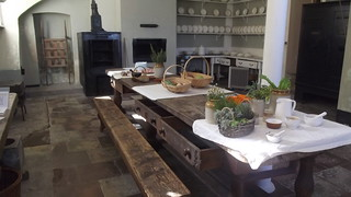 The kitchen at Osterley House and Park, October 2012