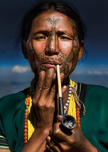 The Disappearing Ink | Tattoo Face Lady | Chin State, Myanmar #3