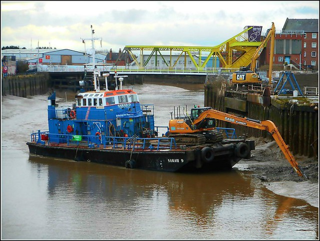 Dredging in Progress.