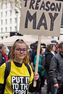 """""""Treason May"""" - BREXIT Put It to the People March, London 23 Mar 2019"""