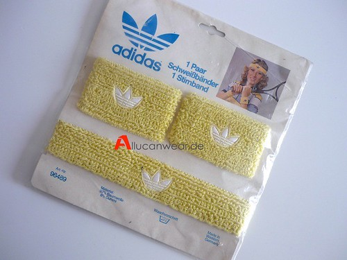 UNUSED VINTAGE ADIDAS TENNIS SET (2 WRISTBANDS & 1 HEADBAND) | by aucwd