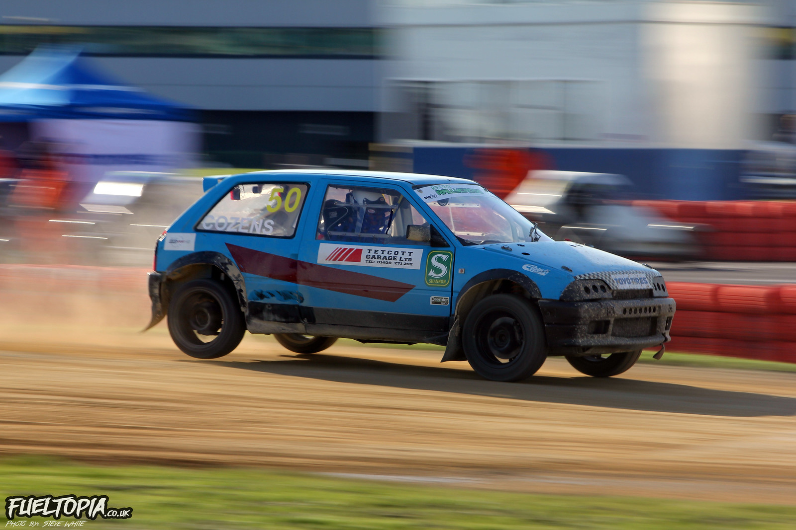 Citroen AX Steve Cozens Retro BRX British Rallycross Championship 2019 Steve White Fueltopia