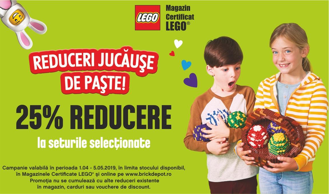 Reduceri jucause de Paste: 25% reducere la o selectie de seturi LEGO®