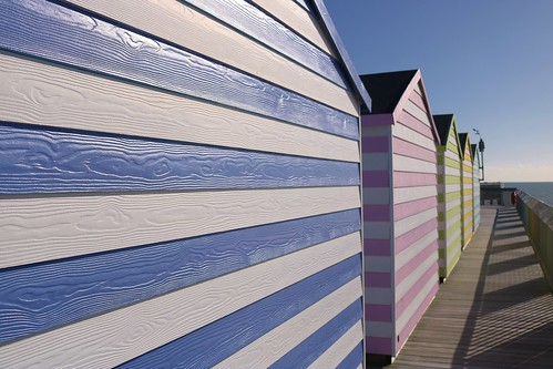 Beach Huts on Hastings Pier....   by markwilkins64