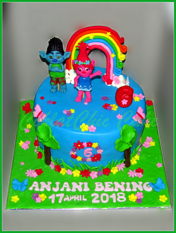Cake Disney Trolls ANJANI 20 cm