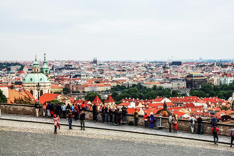 布拉格城堡廣場俯瞰市區 1