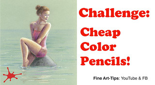 Challenge: Drawing With Cheap Color Pencils - A Woman | by fineart-tips