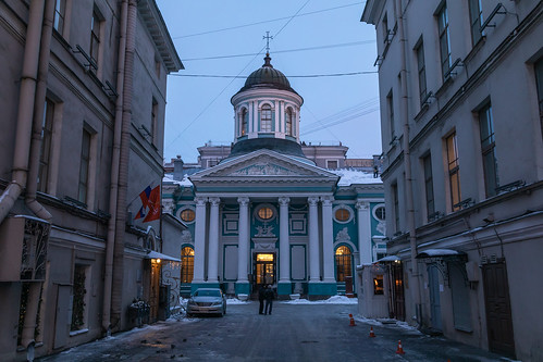 saintpetersburg sunrise winter church street city outdoor town snow morning blue colorful old cathedral orthodox dome sky cross exterior russia style architecture catedral outdoors petersburg st leningradoblast ru