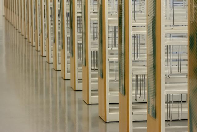 Empty bookcases