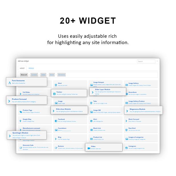 support 20+ widget