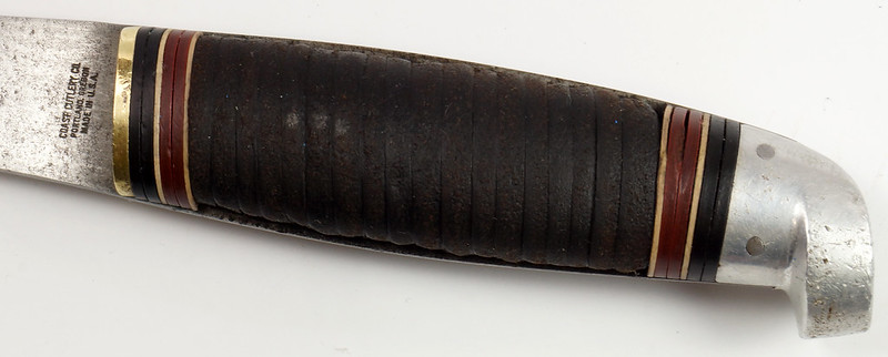 RD27730 Vintage The Coast Cutlery Axe Hatchet All Steel Leather Wrapped Handle Portland Oregon DSC09931