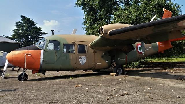 P166M-APM MM61927/ 53-34 ex Italian Air Force/ Aeronautica Militare. Preserved, Cameri Air Base, Italy. 27 July 2016.