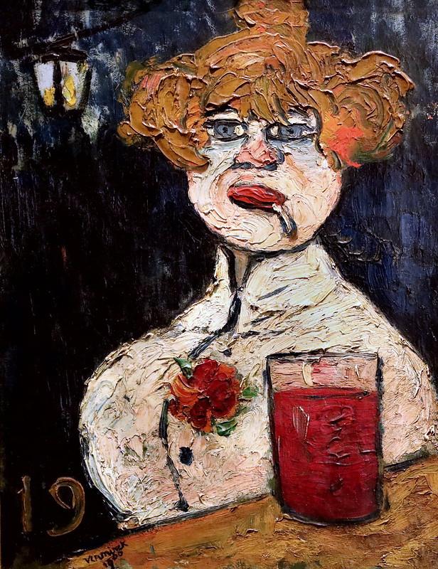 IMG_7280 Maurice de Vlaminck 1876-1958 Paris  Sur le zinc. On the zinc (at the bar ) 1900 Avignon Musée Calvet Fauvisme, Cubisme, Expressionnisme.