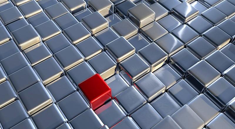 Обои кубы, метал, пространство, моделирование картинки на рабочий стол, фото скачать бесплатно