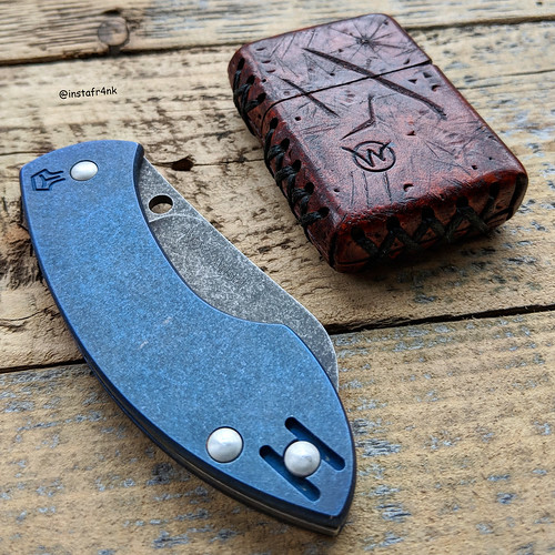 Spyderco Pingo with custom titanium scales from Woro Knives | by edcbyfrank