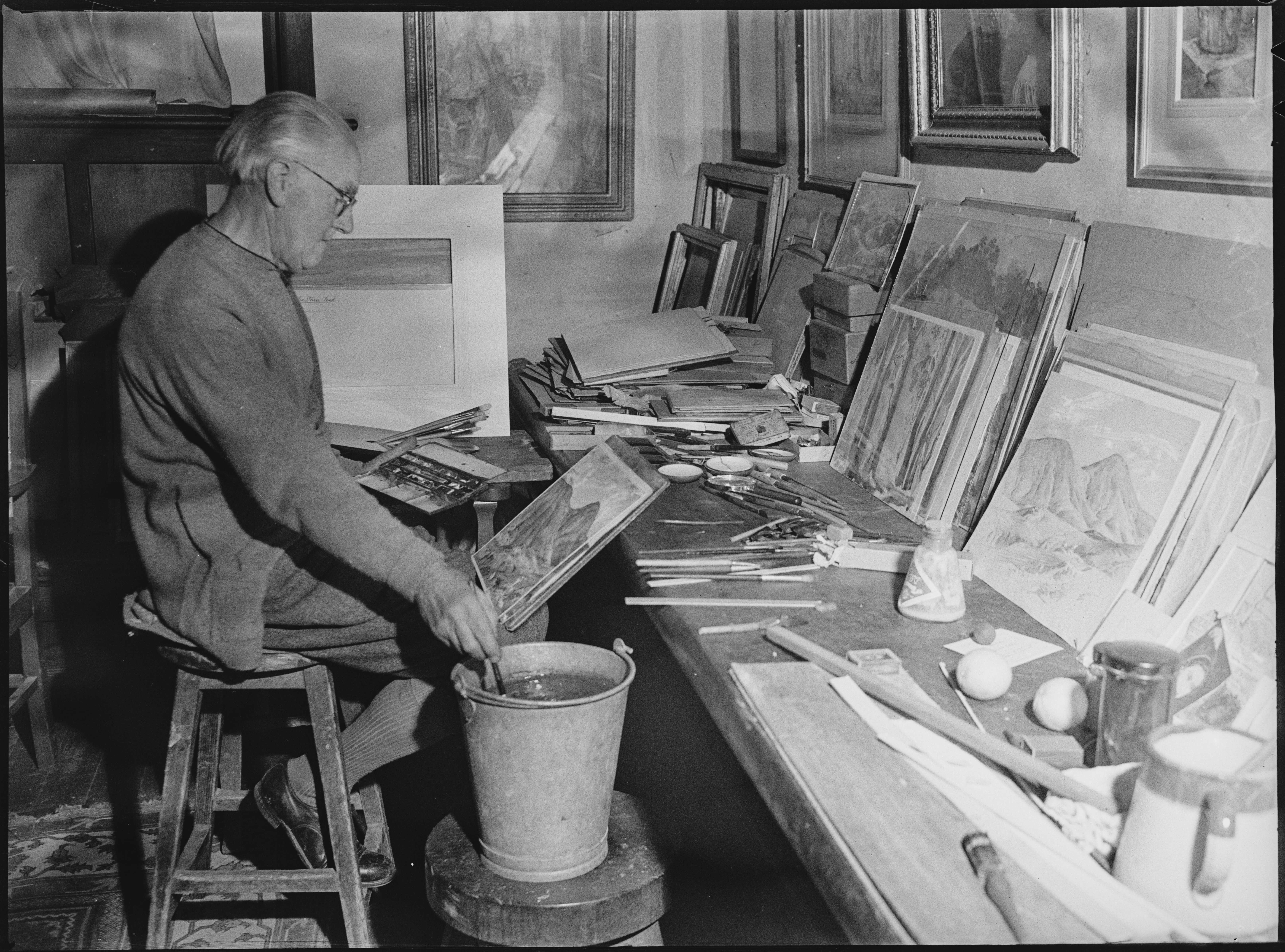 Hans Heysen painting, Hahndorf, photographed by R. Donaldson