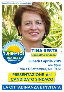 Tina Resta comunali 2019