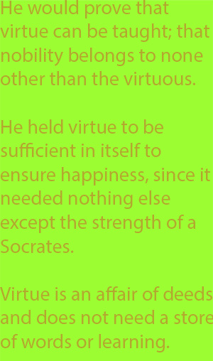 6-1 virtue is an affair of deeds and does not need a store of words or learning