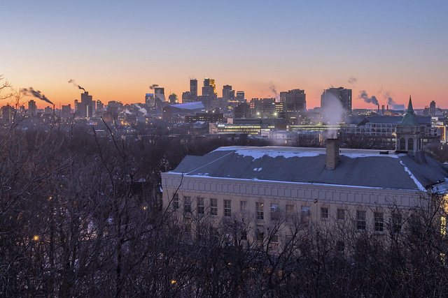 Minneapolis in Winter from Tower Hill Park