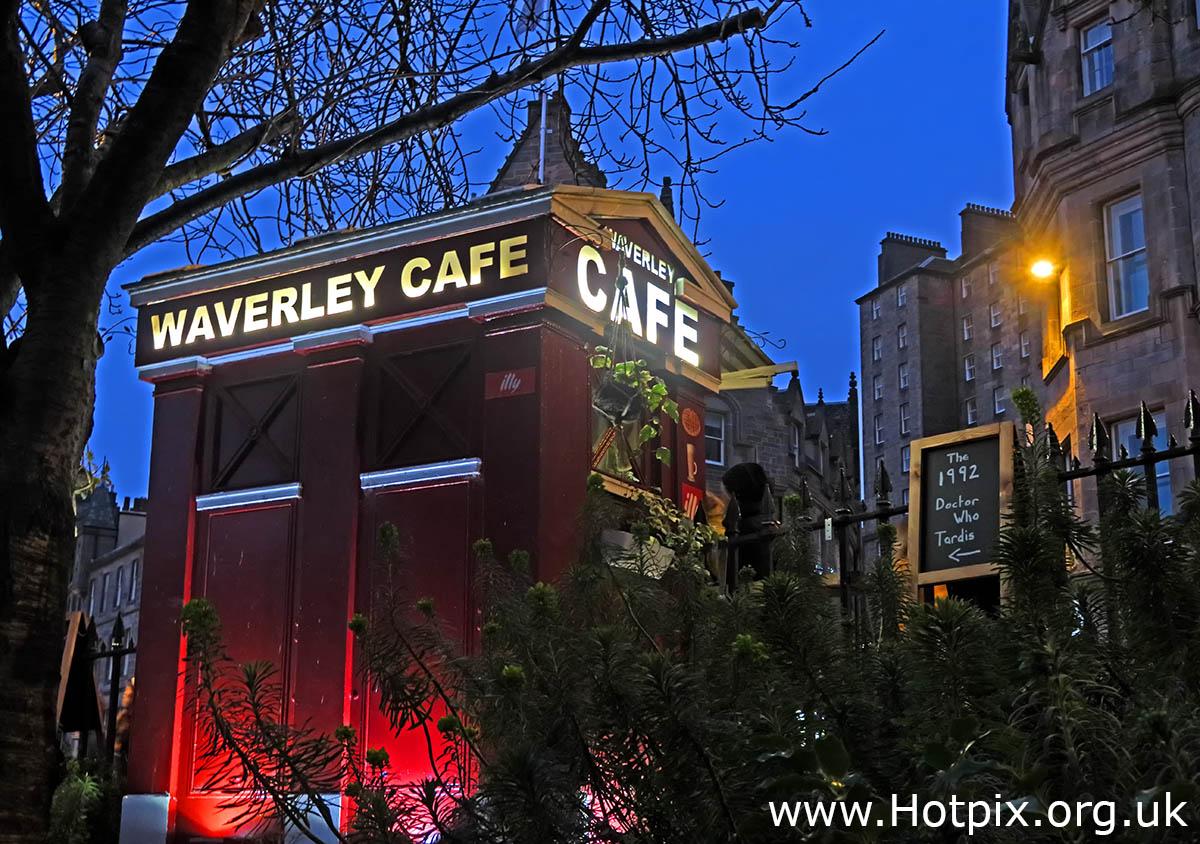 HousingITguy,Project365,2nd 365,HotpixUK365,Tone Smith,GoTonySmith,365,2365,one a day,Tony Smith,Hotpix,Edinburgh,City Centre,Tardis,Waverley,Cafe,Waverley Cafe,dusk,night,at night,Dr Who,Dr,Who