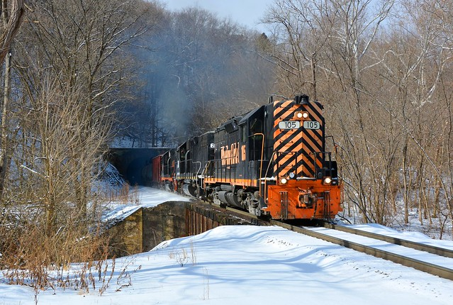 WLE 105 at State Line Tunnel. Avella, PA
