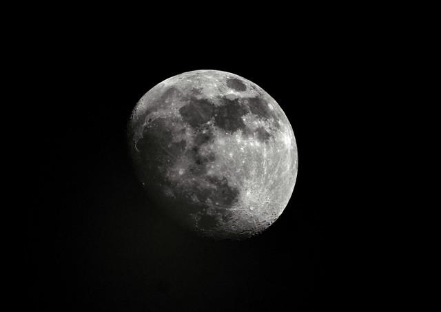 Moon shadow.