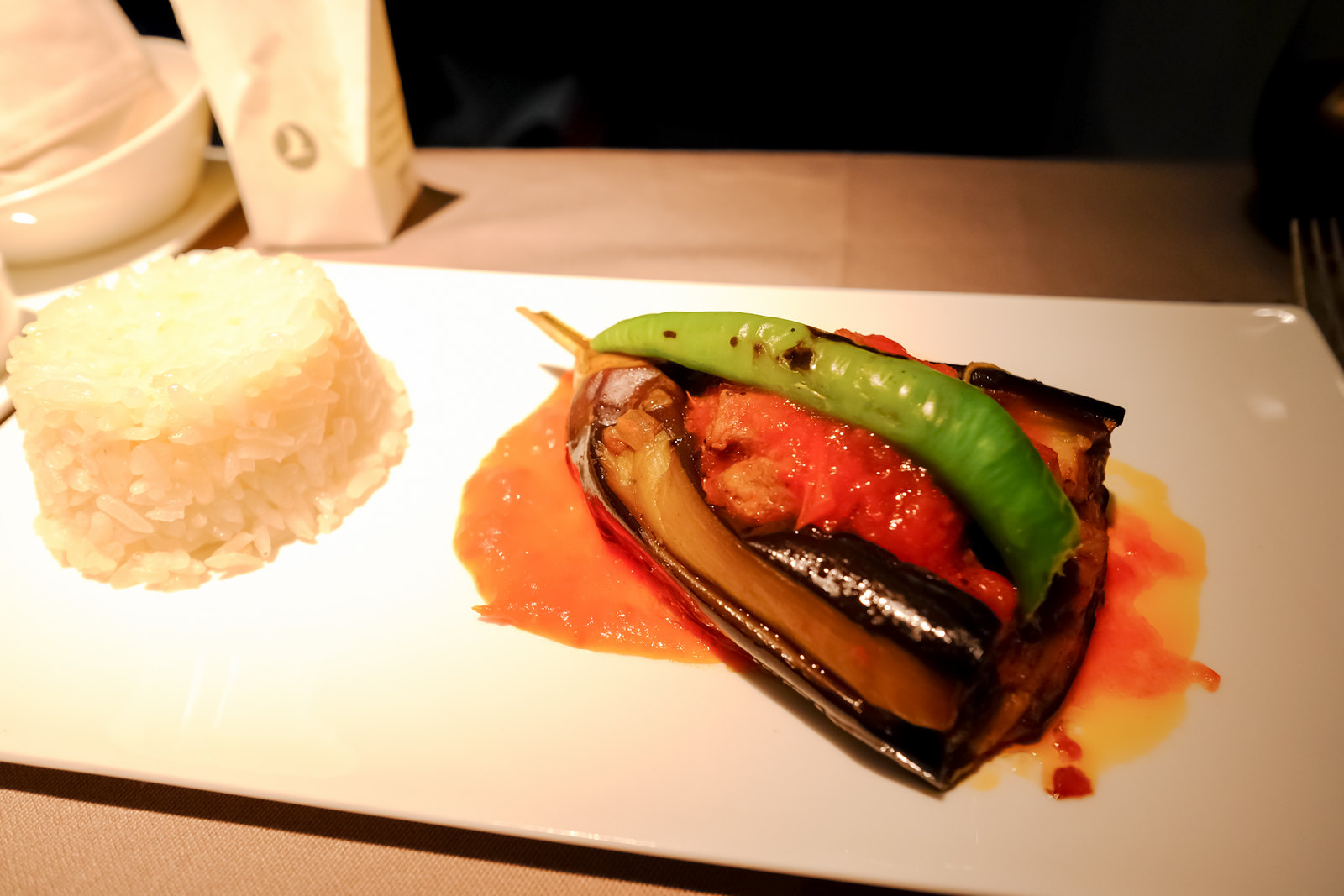 Karniyarik traditional stuffed eggplant