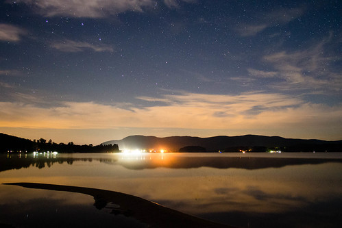 12mm astronomy astrophotography clouds em5 lake landscape mountains night pond reflections stars water islandpond vermont unitedstates us