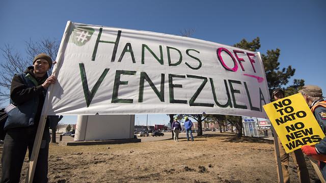 Protest against US military intervention in Venezuela