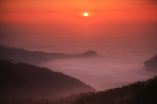 頂石棹 隙頂 嘉義 阿里山國家公園 雲彩 雲海 雲 夕陽 夕彩 sunset 日落 6d ef2470mm 竹崎鄉
