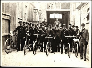 Postmen leaving from Christchurch Central Post Office, c.1900 | by Archives New Zealand
