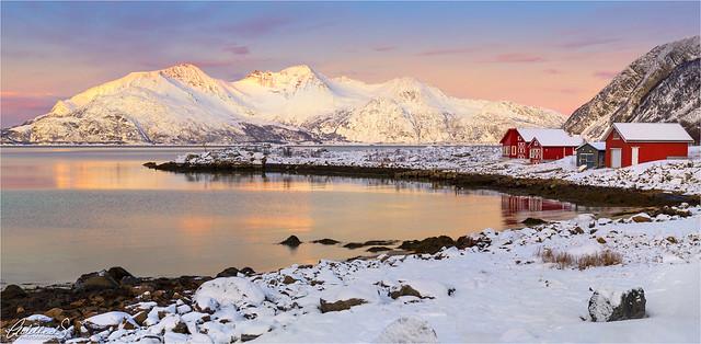 Grøtfjord Winter Sun