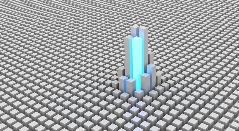 Обои кубы, формы, пространство, свечение, строительство картинки на рабочий стол, фото скачать бесплатно