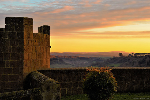 Sunset in Tuscania, Central Italy