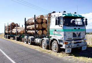 Sandbach-built log hauler | by SemmyTrailer