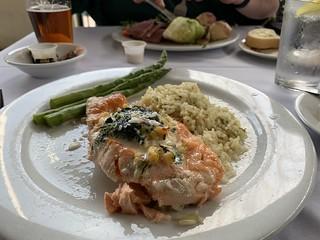 Stuffed salmon at Sweeney's | by walelia