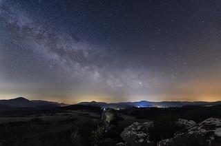 Milchstraße über den Geiersteinen